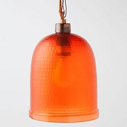 "Anthropologie - Bell Jar Pendant - Hardwired for professional installationGlass, brass, iron100 watt max98"" cord12""H, 7"" diameterImported"