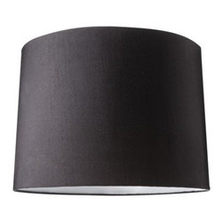 Nate Berkus Lampshade, Black - Change the look of any lamp by adding a black shade. You'll be surprised at how dramatic things get.