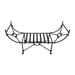 "Used Kreiss Montoro Patio Towel Rack - A Kreiss ""Montoro"" patio towel rack, in a matte black that's been powder coated. This rack has never been used and is in perfect condition.    Please note, the seller has many matching Montoro patio pieces available, including bar chairs, tables, a loveseat, and a single chaise loungers. If you are interested in purchasing multiple pieces (or the set), please email: support@chairish.com."