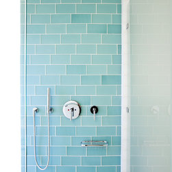 Muir Beach Shower - Island Stone Beach Glass tile