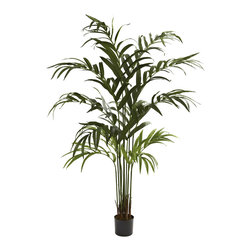 Nearly Natural - 6-foot Kentia Palm Tree - Bring the vibe of the desert into your home or office with this 6-foot Kentia Palm Tree. With several trunks standing almost impossibly straight giving way to cascading leaves,makes this plant an excellent flourish to any space.