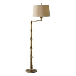 Murray Feiss FL6273 Floor Lamp, Antique Silver Leaf