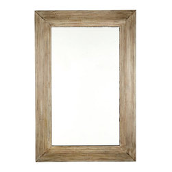 Ballard Designs - Bernard Mirror - Generous bevel. Hangs both ways. The vintage design for our Bernard Mirror was inspired by a florist's display we saw on a Paris sidewalk. The wide, deeply molded frame is hand crafted of hardwood with weathered finish and painted black inner lip for dramatic depth.Bernard Mirror features: . .