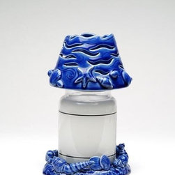 ATD - 6.5 Inch Ocean Wave Detailed Jar Holder with Matching Shade Set - This gorgeous 6.5 Inch Ocean Wave Detailed Jar Holder with Matching Shade Set has the finest details and highest quality you will find anywhere! 6.5 Inch Ocean Wave Detailed Jar Holder with Matching Shade Set is truly remarkable.