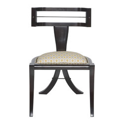 Greek Peak Side Chair - This chair combines tradition, a dash of modern,and its own one-of-a-kind style, which add up to a gorgeous chair that is sure to get many compliments from your dinner guests.