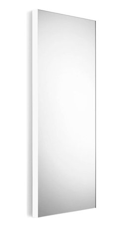 WS Bath Collections - Wall Mount Mirror with White Frame - Modern/ contemporary design. 5 years silvering guaranteed. Warranty: 1 year. Made of glass mirror with powder coated aluminum. Made in Italy. 17.5 in. W x 39.4 in. H (30 lbs.). Spec SheetLinea; washbasins, washstands, and bathroom furniture, of various sizes and materials. Pureness of glass, polish of steel, and warmth of wood. Perfection of lines, art, and harmony. Made by Lineabeta of Italy to Highest Industry standards.