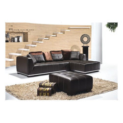 Luxury Genuine Leather Sectional - Combines both elegance and comfort