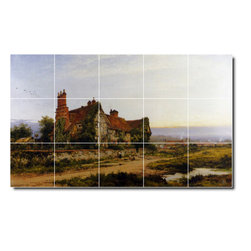 Picture-Tiles, LLC - An Old Surrey Home Tile Mural By Benjamin Leader - * MURAL SIZE: 18x30 inch tile mural using (15) 6x6 ceramic tiles-satin finish.