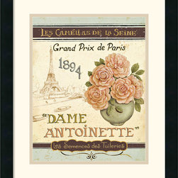 Amanti Art - French Seed Packet II Framed Print by Daphne Brissonnet - Invoke a sense of charming nostalgia with this accent piece by Daphne Brissonnet. Dedicated to Parisian roses this framed art print makes a great gift for gardeners and floral enthusiasts alike.
