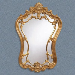Antique Gold Ornate Decorative Mirror - 24W x 35H in. - About BassettBassett Mirror Company Inc. has been one of America's leading names in home fashion since 1922 when the family business was founded on the eastern slopes of the Blue Ridge Mountains of Virginia. Four generations later Bassett still produces beautiful mirrors fine furniture and framed art pieces that are destined to become heirlooms.