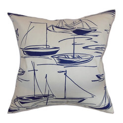 Gamboola Nautical Pillow, Navy