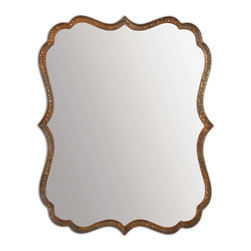 Uttermost - Uttermost 12848 Spadola Oxidized Copper Hammered Metal Mirror - Plated Oxidized Copper w/ a Rust Gray Wash