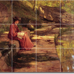 Picture-Tiles, LLC - Daisy By The River Tile Mural By Theodore Steele - * MURAL SIZE: 12.75x17 inch tile mural using (12) 4.25x4.25 ceramic tiles-satin finish.