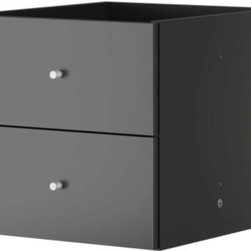 EXPEDIT Insert with 2 drawers - Insert with 2 drawers, black