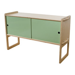 Housefish - Housefish Key Tall Module - Maple - Key is a highly modular storage system that ships flat and assembles easily- the only tool you need is a hammer. The parts are cleverly joined into an exceptionally strong structure by machined aluminum tenon keys. The wood is sustainably harvested, FSC certified maple or walnut plywood, finished with a zero VOC finish. Key is our effort to redefine what sustainable, green, modern furniture can be. Available with optional sliding powdercoated metal doors in a wide variety of colors. Key packaging is 100% paper-based and contains no plastic.
