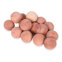 StorageManiac - StorageManiac Fresh Natural Wood Cedar Balls for Closets, 24-Count - Features: