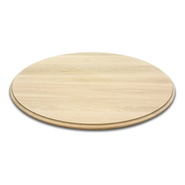 Classic Designs VT - Round Wood Table Tops, White Oak - Round wood table top made from solid black walnut. Quirk Bead edging. 44 inch diameter and 1 inch thickness. Fine sanded and ready for your finish to be applied. Handcrafted, made to order in Vermont. Free shipping to the lower 48 states. Pictured table top is in soft maple wood.