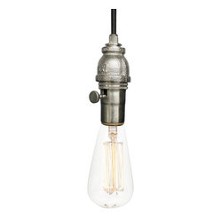 Industrial Rustic Pipe Pendant Light – Brushed Nickel