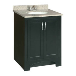 PREMIER - Premier 106722 Sonoma RTA Vanity, 24-Inch, Espresso Finish - For intuitive, ready-to-assemble vanities that refresh the look of any bathroom, choose Premier's Sonoma vanities. Sonoma vanities contain cam-lock connectors for quick installation and feature solid wood door frames and door fronts. Durable and decorative satin nickel hardware provides a contemporary look. Sonoma vanities have a water-resistant espresso finish that blends well into any bathroom d'cor. Complete your vanity set with matching wood-framed mirrors and cultured marble vanity tops (sold separately). Features:Ready-to-assemble