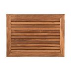 TEAKWORKS4U - Teakworks4u Bath Mat With Wide Frame, Plantation Teak - Teakworks4u Bath Mat With Wide Frame is ideal for indoor or outdoor use. Naturally high silica content makes this piece incredibly slip resistant and it is naturally mold and mildew proof due to its high oil content. .