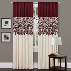Triangle Home Fashions LLC - Triangle Home Fashions Estate Garden Window Curtain Set - Red Multicolor - TRIA0 - Shop for Curtains and Drapes from Hayneedle.com! The Triangle Home Fashions Estate Garden Window Curtain Set - Red is the perfect way to infuse some style into your home. This alluring set has rich cream and red colors with an exciting floral print that you'll love. It's made of 100% polyester hangs with ease and is dry-clean only.