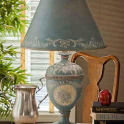 Dessau Home - Blue Decal Lamp - - 16X16X 27.5H - Accessories not included Dessau Home - SF4680