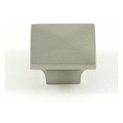 Stone Mill - Stone Mill Hardware Satin Nickel Cairo Cabinet Knobs (Pack of 5) - Add a sleek,refined look to your home decor with these cabinet knobs from Stone Mill. These square cabinet knobs come to a pyramid at the top and feature a beautiful satin nickel finish.