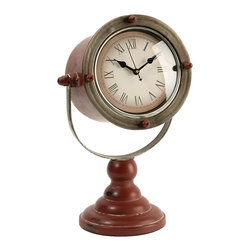 Spotlight Desk Clock - *The Spotlight clock has an aged appearance and adds sophistication to any desk or tabletop!