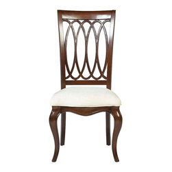 American Drew - American Drew Cherry Grove NG Splat Back Side Chair in Mid Tone Brown, Set of 2 - Cherry Grove New Generation line promises the same timeless quality and appeal with a full line of dining room, bedroom, home office, entertainment and occasional furniture. The line incorporates many elegant curves and graceful movement, and is updated with today? finishes, functionality and style. The inviting Mid tone brown finish makes the cherry veneers pop on each piece, along with Custom designed hardware. This line takes advantage of vertical space with higher case heights, and maximizes the utility of small spaces with hinged drop leaves on servers and tables. In combination, the collection takes functionality to a lifestyle level and allows urban or scaled-down living spaces to become entertainment areas, making small rooms work like big rooms. The New Generation of Cherry Grove is about honoring tradition while staying on trend.