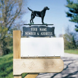 Whitehall - Whitehall Double Sided 2-line Mailbox Sign with Black Retriever Ornament - 02603 - Shop for Mailboxes and Accessories from Hayneedle.com! About WhitehallWhitehall is the world's largest manufacturer of weathervanes but the business points a lot more ways than east west north and south. Inspired by traditional handcrafted designs and quality Whitehall also makes gorgeous mailboxes address plaques and outdoor accents. They're based in western Michigan building American tradition and quality into every product they make.