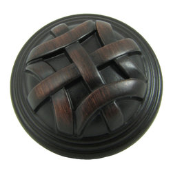 Stone Mill - Stone Mill Hardware Cross Flory Oil-rubbed Bronze Cabinet Knobs (Case of 25) - Give your cabinets a unique touch that reflects your personality with these sturdy oil-rubbed bronze cabinet knobs. The knobs have a raised cross-hatch pattern that adds a sense of texture. The oil-rubbed finish adds a polished look to the fixtures.