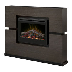 Dimplex - Dimplex Linwood Mantel with Electric Firebox (Log Set) - Dimplex - Electric Fireplaces - GDS331310RG - This outstanding mantel design lends itself to the striking Grey Rift veneer finish. The patented Dimplex flame effect adds the final touch. This mantel makes a dramatic statement. The mantel is one-piece construction and requires no assembly.