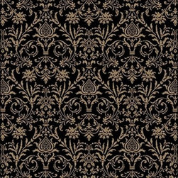 "Concord Global - Concord Global Jewel Damask Black 2'7"" x 4'  Rug (4943) - Jewel collection is machine-made in Turkey using 100% heat-set polypropelene. These traditional to contemporary rugs will make a colorful addition to any area."