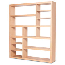 contemporary wall shelves Nevada Oak Shelves