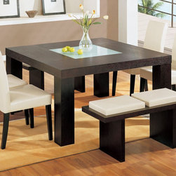 Global Furniture - Square Dining Table in Wenge - DG020DT - Constructed of oak wood veneers