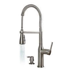 Miseno - Miseno Commercial Style Pre-Rinse Kitchen Faucet Soap Dispenser Stainless steel - Product Features: