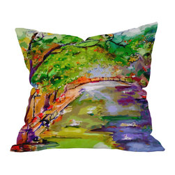 DENY Designs - Ginette Fine Art Annecy Canal France Outdoor Throw Pillow, 20x20x6 - Do you hear that noise? It's your outdoor area begging for a facelift and what better way to turn up the chic than with our outdoor throw pillow collection? Made from water and mildew proof woven polyester, our indoor/outdoor throw pillow is the perfect way to add some vibrance and character to your boring outdoor furniture while giving the rain a run for It's money.