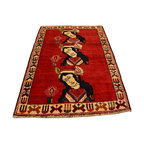 1800-Get-A-Rug - Hand Knotted Rug Pictorial Persian Shiraz Sh12644 - About Persian