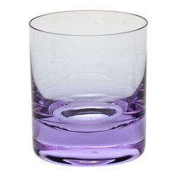 Moser Barware, Whisky ALX - A classic whisky glass is a bar cart essential, and it doesn't have to be colorless to be clear. I love the dramatic reflection in the purple and the emphasized base as a result.
