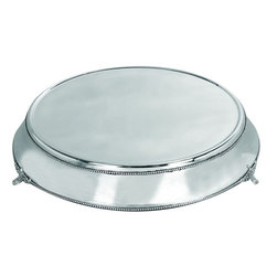Benzara - Stainless Steel Cake Plate with Silver Color - Many small items of daily use have become the decor piece. One such item is 15963 STAINLESS STEEL CAKE PLATE. It is a wonderful table decor accent that enhances the pleasure of parties as well as distinguish your hosting style.