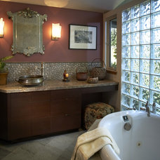 Eclectic Bathroom by Harrell Remodeling