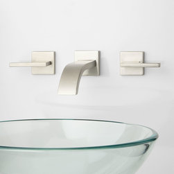 Ultra Wall-Mount Bathroom Faucet - Lever Handles - The Ultra Wall-Mount Bathroom Faucet features a contemporary flat spout and coordinating lever handles. Pair this faucet with your favorite vanity to create a one-of-a-kind look, perfect for your modern bathroom.