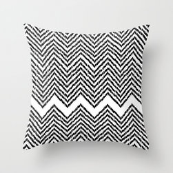 Woven Diamond Pillow Cover - Place this pillow with a woven set of chevrons for a mesmerizing effect. Made of 100% polyester poplin, each double-sided pillow cover has been individually cut and sewn by hand. A concealed zipper makes the pillow cover easy to clean. Does not include pillow insert.
