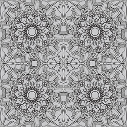 LOLLIPROPS, INC., LPI - Medallion Removable Wallpaper, Platinum - The wild designs in this temporary wallpaper would bring energy to any space. You could easily peel and stick a few panels of this to just one statement wall and transform a room. And since it's only temporary, you don't have to worry about it harming your walls when you want to change up the look. It's a great design solution.