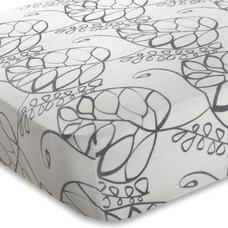 giggle Nursery Bedding | Crib Sheet - Moonlight Leafy (Bamboo Muslin)