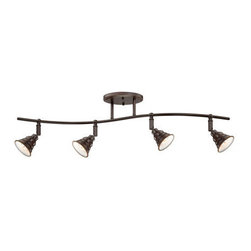 Quoizel Lighting - Quoizel EVE1404PN Eastvale 4 Light Track Lighting, Palladian Bronze - The Eastvale series pairs a vintage industrial look with modern sensibility. Attention to fine details and a rich Palladian Bronze finish allow this distinctive fixture suit a variety of interior design styles.