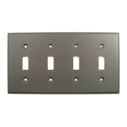 Rusticware - 790 Quad Switch Switchplate - Oil Rubbed Bronze - This Oil Rubbed Bronze switch plate is a stylish piece of hardware that will add to the decor of any room in your home.