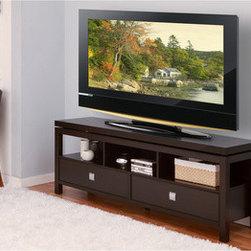 Furniture of America La Cav 60-Inch Cappuccino Finish TV Cabinet/ Console -
