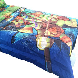 Jay Franco and Sons - Teenage Mutant Ninja Turtles Twin-Full Comforter Shell Up - FEATURES:
