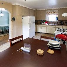 Craftsman  blue kitchen